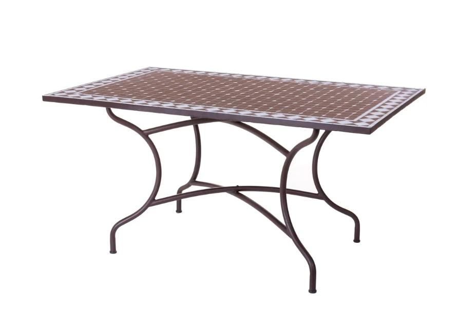 Mesa rectangular Persea de ceramica 150x90x75 cm