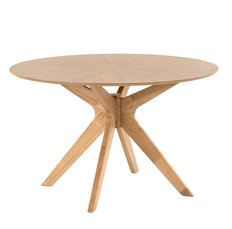 Mesa redonda Carmel de madera roble 120 cm
