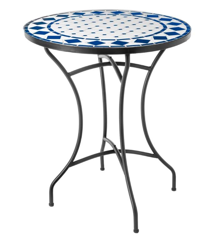 Mesa Delfos de ceramica azul 60 cm