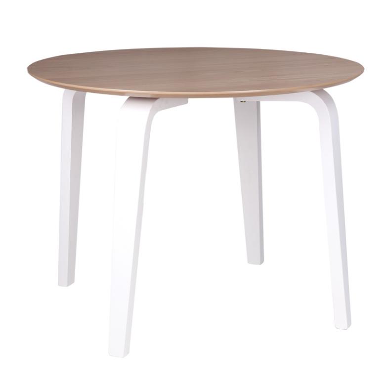 Mesa Nora madera blanco roble 100 cm