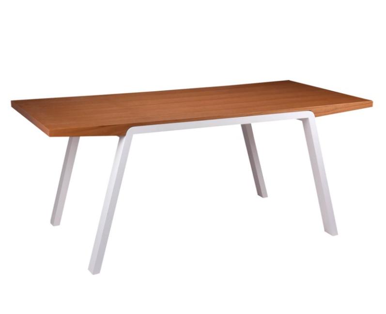 Mesa de comedor Stela madera blanco roble 180x90 cm