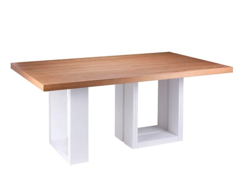 Mesa de comedor Telma madera roble 180x100 cm