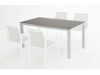 Mesa aluminio blanco Moka Laos 160x90