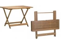 Mesa de madera plegable 125x80