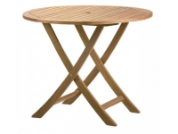 Mesa de madera redonda plegable