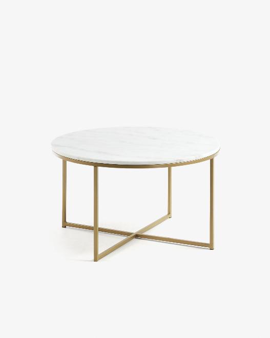 Mesa de centro Anita de mármol 80 cm
