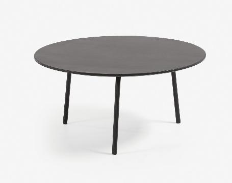 Mesa de centro Marcel cemento patas de acero 70 cm