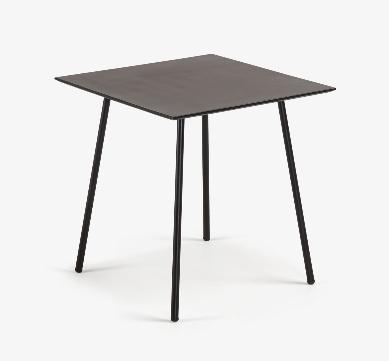 Mesa de centro Marcel cemento patas de acero 75x75 cm