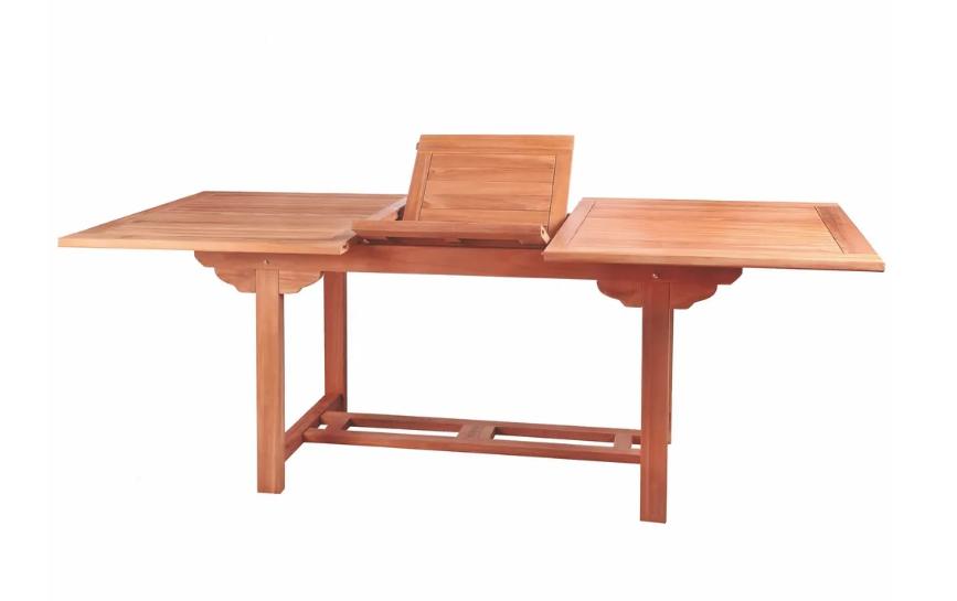 Mesa extensible Alisa madera de teka 160x100 cm