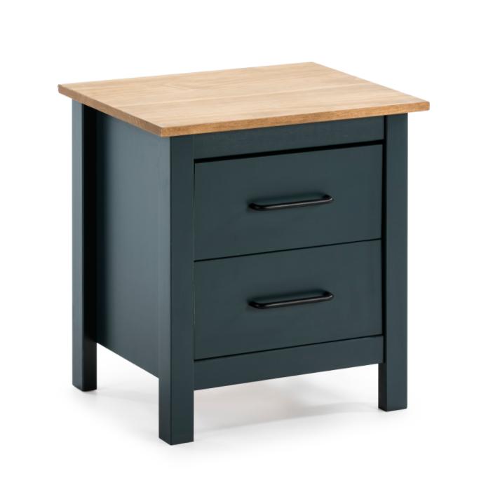 Mesita Miranda madera azul 46 cm