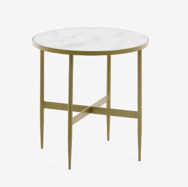 Mesa auxiliar Elisa efecto marmol 50 cm