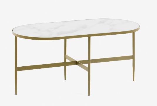 Mesa de centro Elisa efecto marmol 100x50 cm