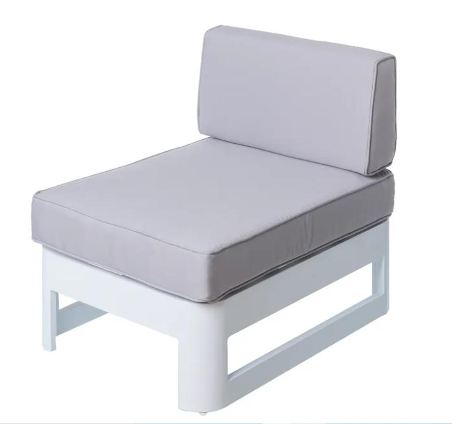 Modulo intermedio Aisha aluminio blanco