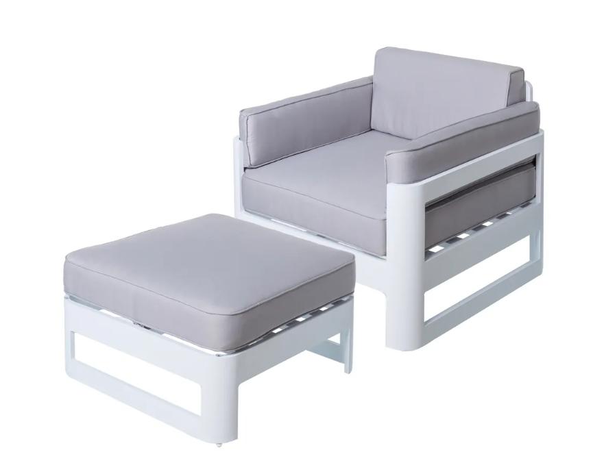 Modular de 2 piezas Aisha aluminio blanco