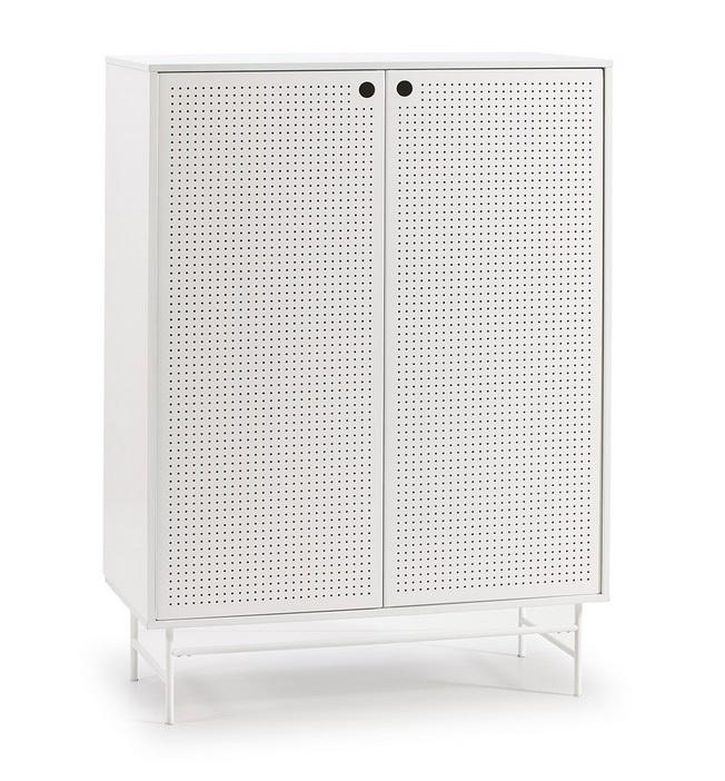 Mueble aparador alto industrial Punto metal blanco 150x93 cm