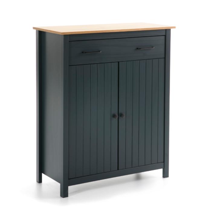 Mueble auxiliar Miranda madera azul 90 cm