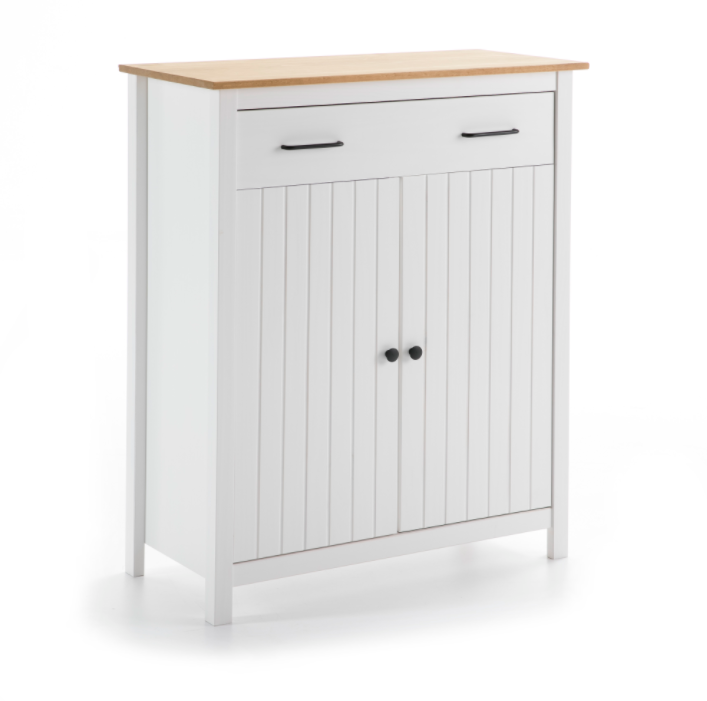 Mueble auxiliar Miranda madera blanco 90 cm