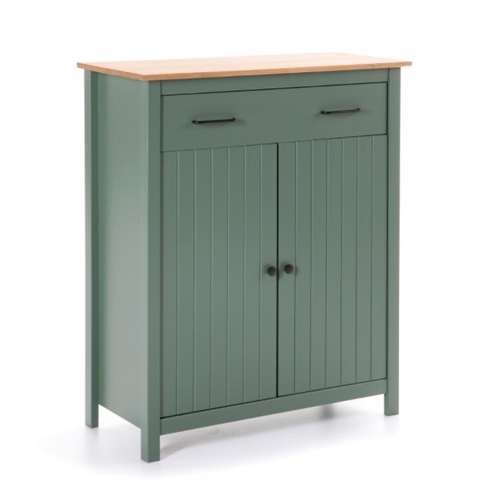Mueble auxiliar Miranda madera verde 90 cm
