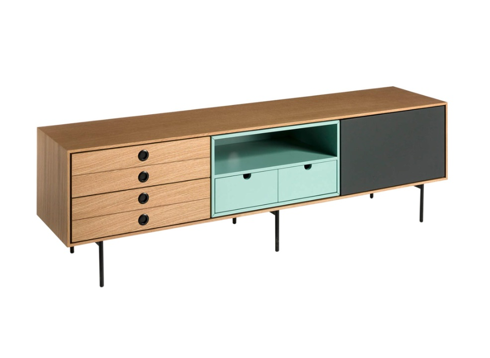 Mueble TV Burgo nordico multicolor 170 cm