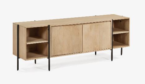 Mueble TV Amazonia madera maciza de mango 160x56 cm