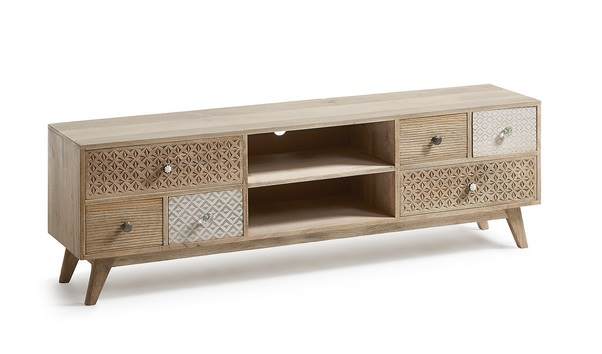 Mueble TV madera natural vintage Marrakech 160