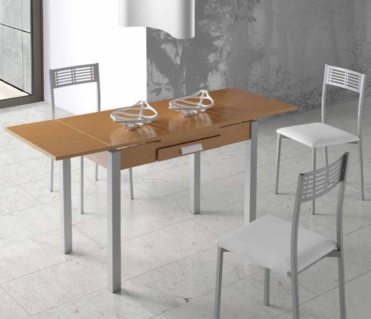 Mesa de cocina extensible Maia roble 100-160x60 cm