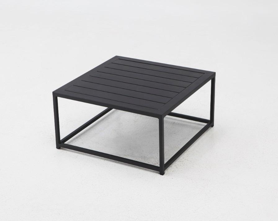 Naxos mesa centro aluminio negro mate 90x90