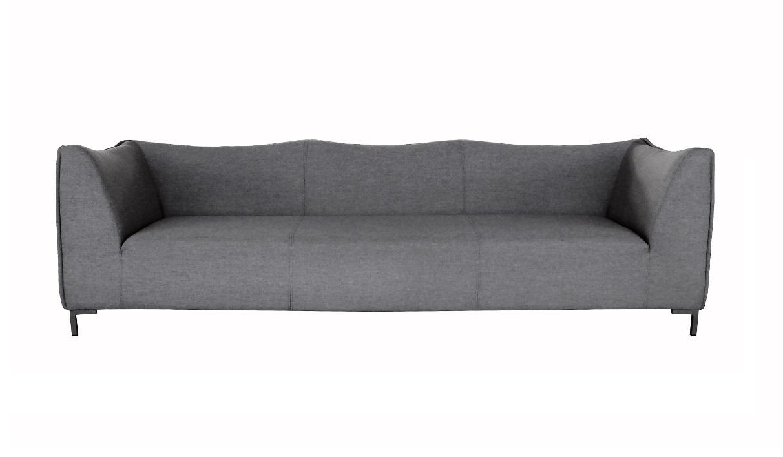Naxos Sofa 3 plazas terraza lounge tapizado gris