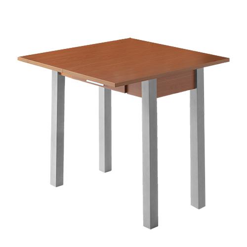 Mesa de cocina extensible Pavia cerezo metal 80x40-80 cm