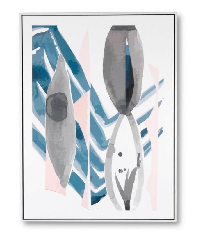 Cuadro Pikas 1 blanco 60x80 cm