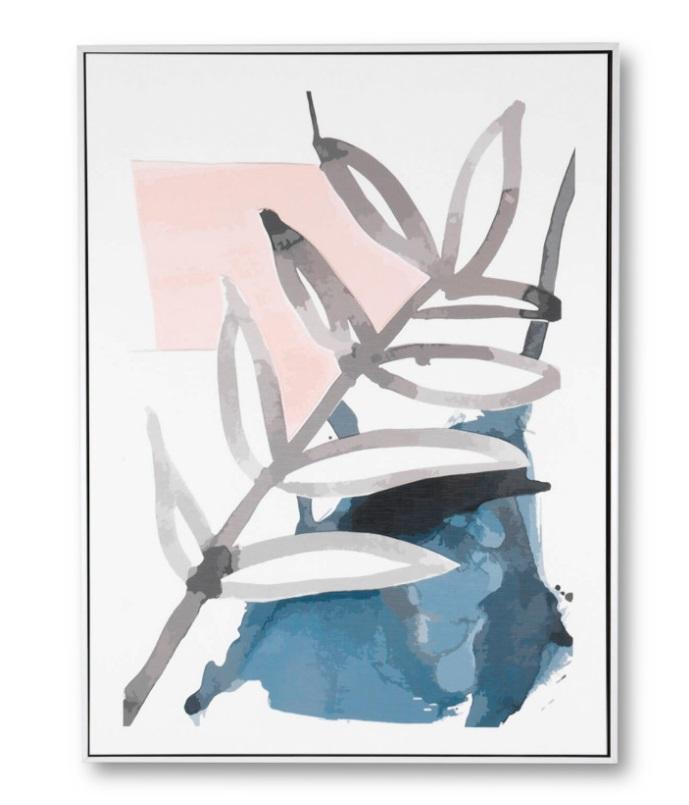 Cuadro Pikas 2 blanco 60x80 cm