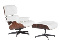Butaca Lounge Chair con ottoman blanco
