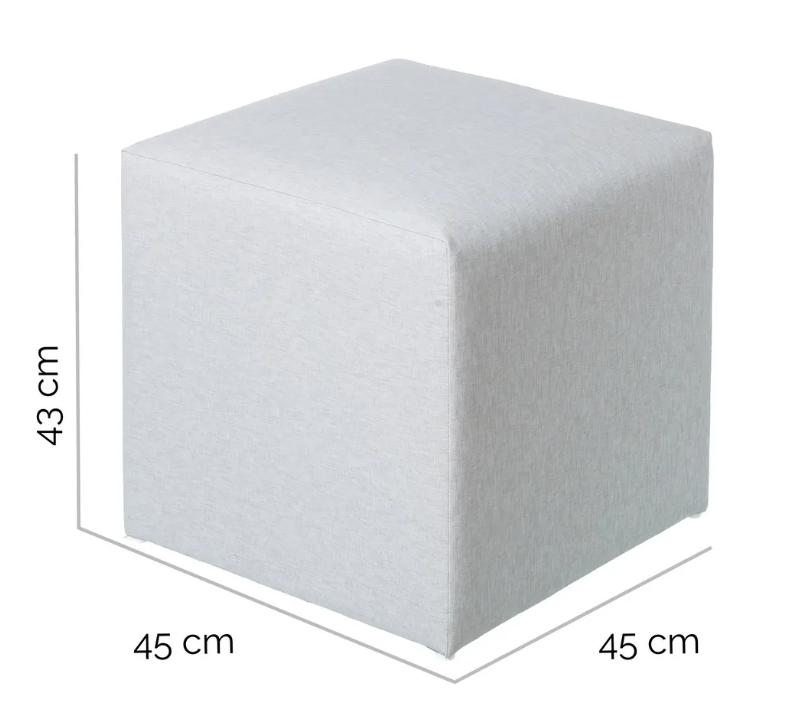 Puf IO aluminio gris