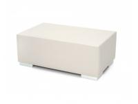 Mesa puff rectangular piel nautica 100x60