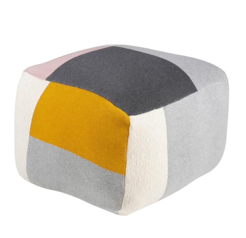 Puff Block en algodón con fantasía en diferentes colores
