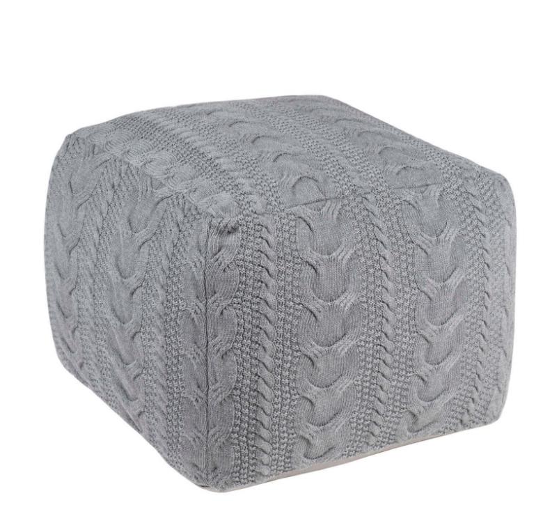 Puff Braid en algodón en color gris