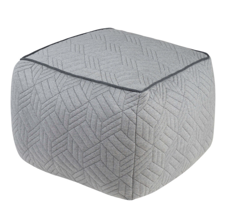 Puff Nexad en algodón color gris oscuro
