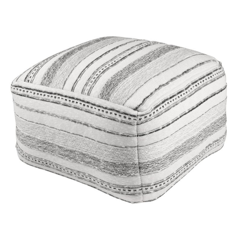 Puff Sand en algodón en tonos blancos y negros