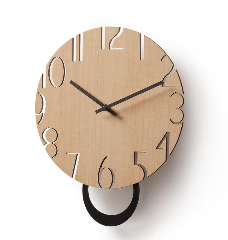 Reloj Lukas madera maciza de acacia