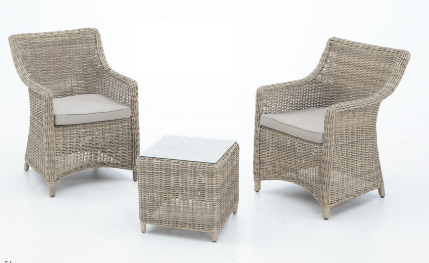 Set sillones rattan natural Dino