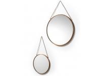 Set espejos colgados de metal cobre