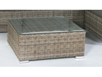 Set lounge rattan color gris Tanna