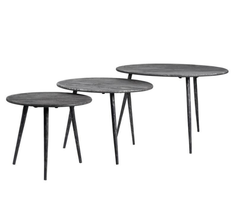 Set mesas centro Amar madera de mango