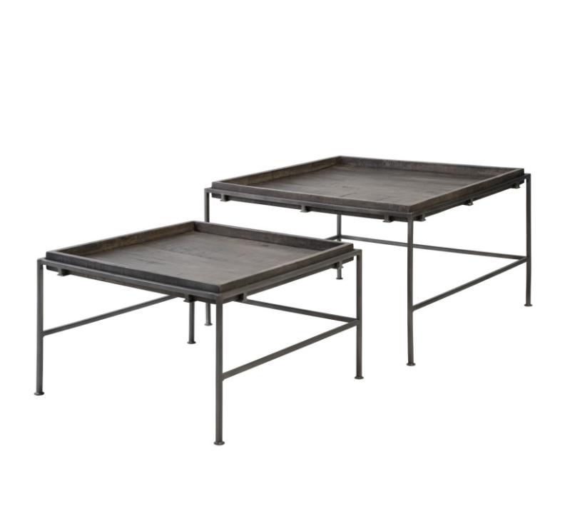 Set mesa centro Kabil madera de mango 76/61 cm