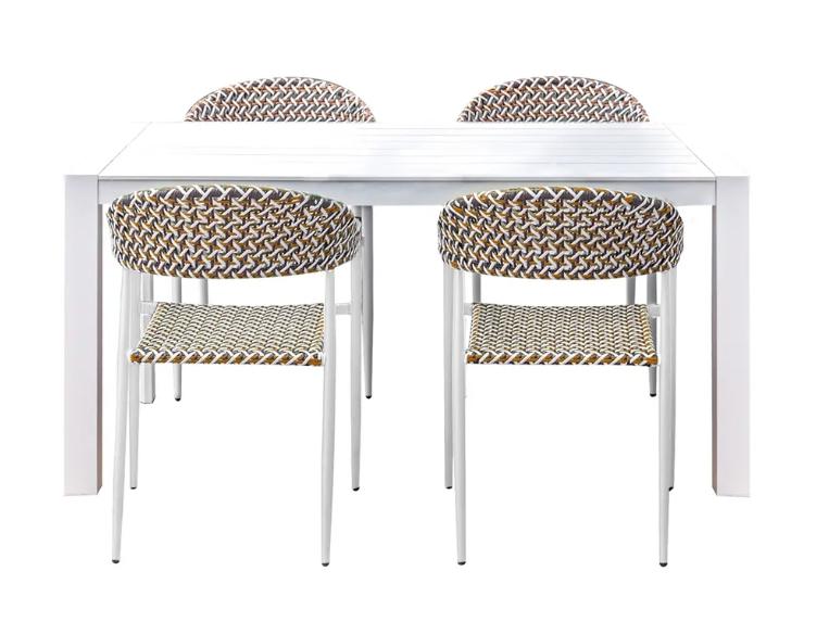Set de comedor Nadia mesa y 4 sillas