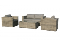 Set sofas rattan color gris Maui