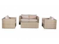 Set sofas rattan color natural Kaui