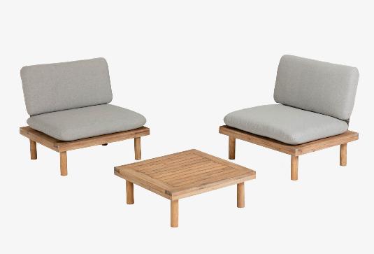 Set Santorini de 2 sillones y 1 mesa