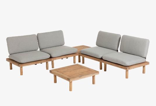 Set Santorini de 4 sillones y 2 mesas