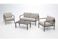 Set sofas de terraza Alboran aluminio marron